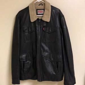 Levi's Strauss Faux Leather Bomber Jacket